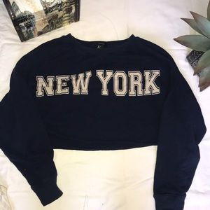 New York cropped sweater